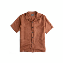 Load image into Gallery viewer, Rust Linen Sun Shirt