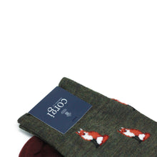 Load image into Gallery viewer, Fox Print Wool Socks