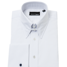 Load image into Gallery viewer, White Slim-Fit Tab Collar Shirt