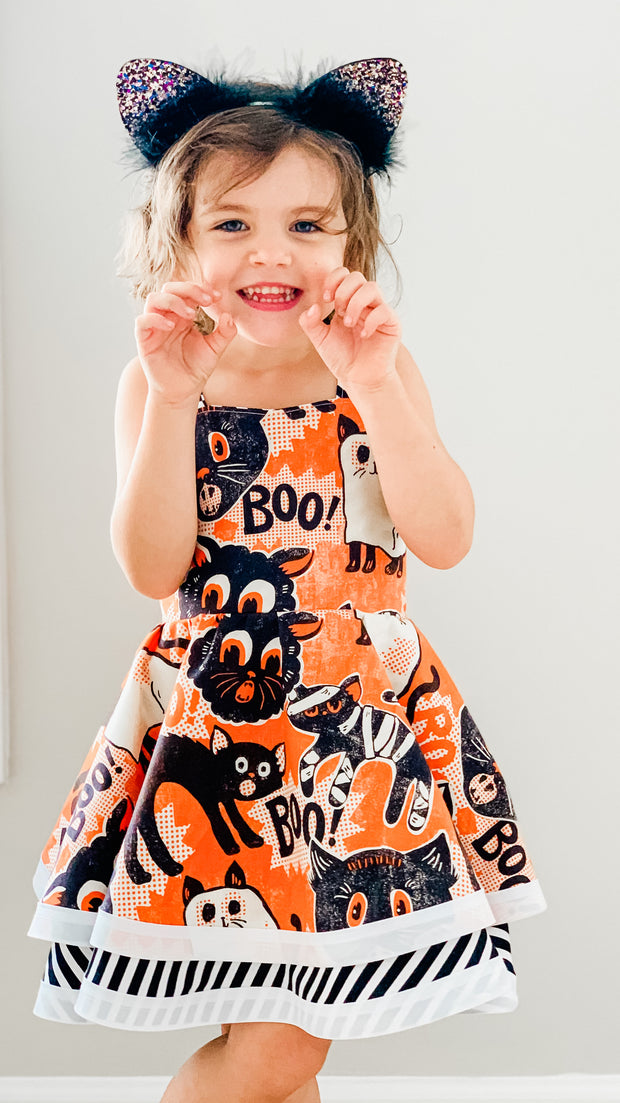 Halloween Cats Dress ( NOT glow in the dark)