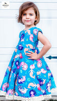 Mermaid Dress RTS size 6-7t
