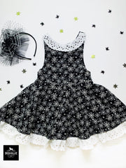 Glow in the Dark Spider web  pinafore or a dress