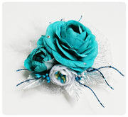 Ice Princess Floral bow
