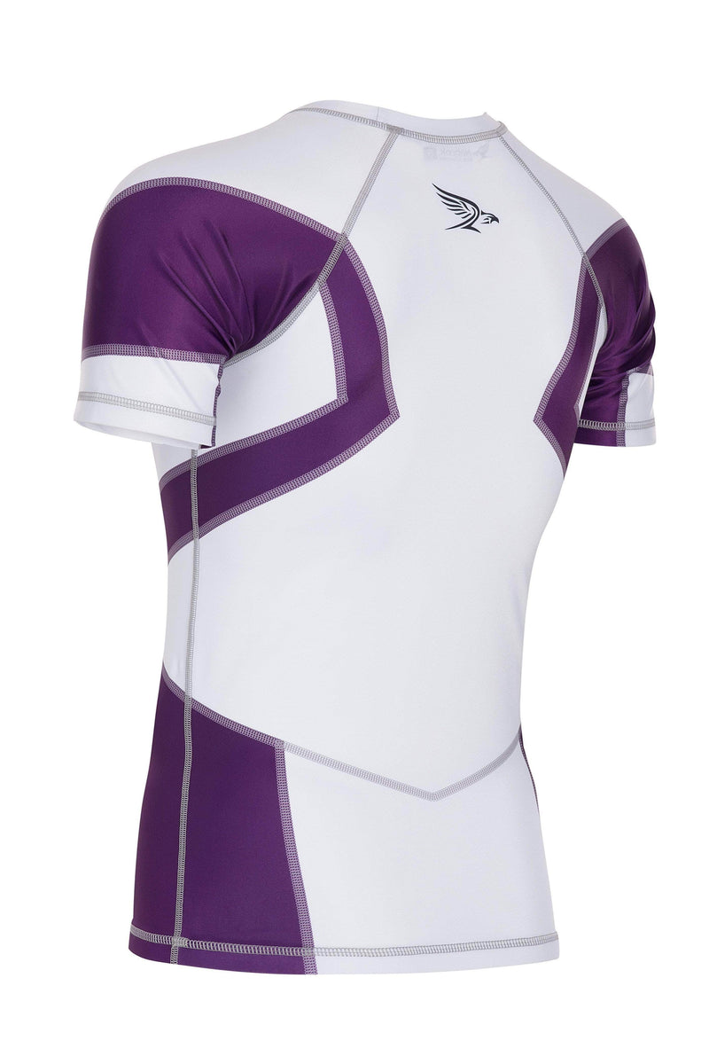 Habrok Rash Guard S / PURPLE Transform 2.0 | Ranked Rash Guard Men | Half Sleeve 680334794945