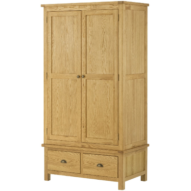 Binbrook 2 Door 2 Drawer Wardrobe - Oak