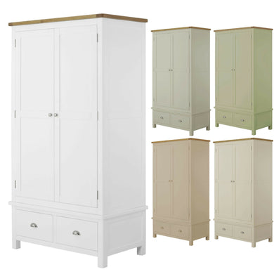 Binbrook 2 Door 2 Drawer Wardrobe - Painted