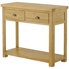 Load image into Gallery viewer, Binbrook 2 Drawer Console Table - Oak