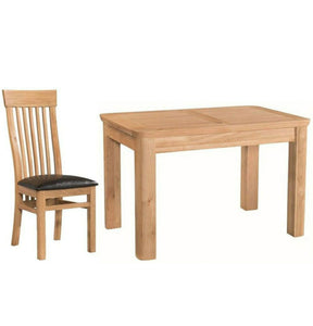 Tealby 4ft Extending Dining Set (Includes 4x Chairs) - Oak