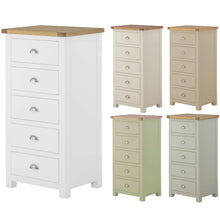 Load image into Gallery viewer, Binbrook 5 Drawer Narrow Chest - Painted