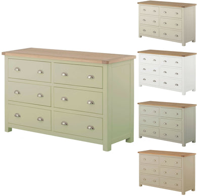 Binbrook 6 Drawer Wide Chest - Painted
