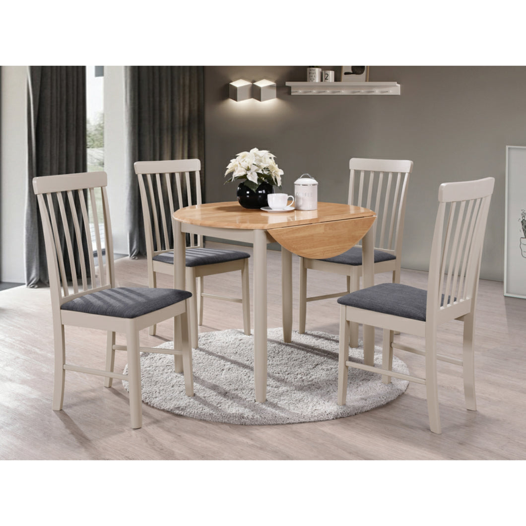 Cranwell Round Drop Leaf Set (Includes 2x Chairs) - Painted