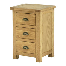 Load image into Gallery viewer, Binbrook 3 Drawer Bedside Chest - Oak