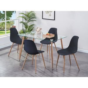 Glass Table & Chair Set (Includes 4x Chairs)