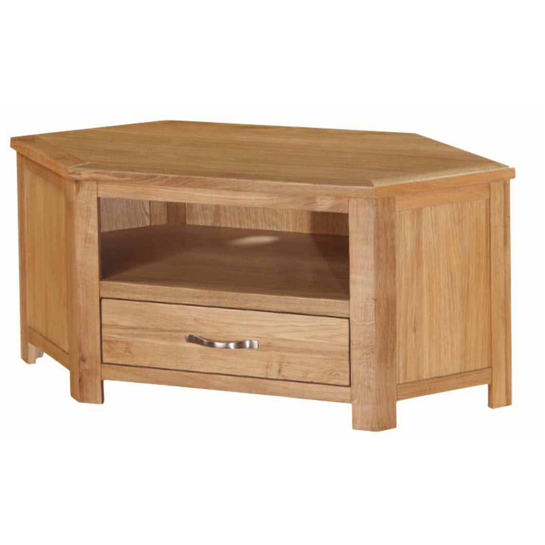 Burwell Corner TV Unit - City Oak