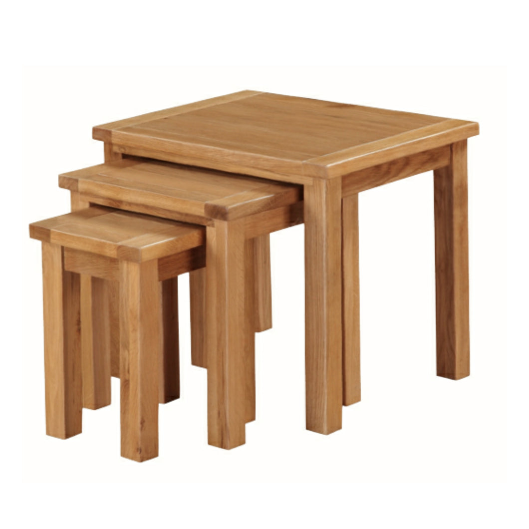 Burwell Nest of Tables - City Oak