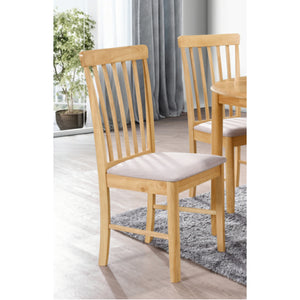 Cranwell Round Drop Leaf Dining Set (Includes 2x Chairs) - Oak