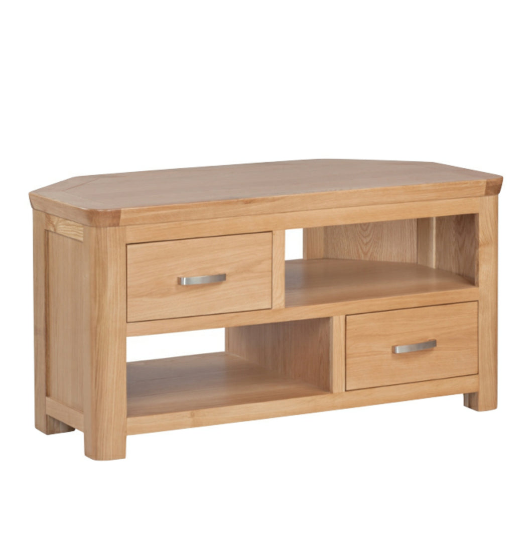 Tealby Corner TV Unit - Oak