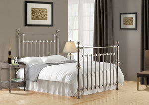 Edward Chrome Nickel Bed Frame