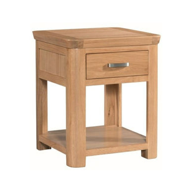 Tealby End Table with Drawer - Oak