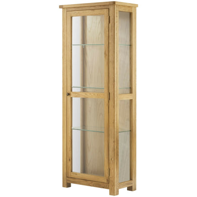 Binbrook Glazed Display Cabinet - Oak