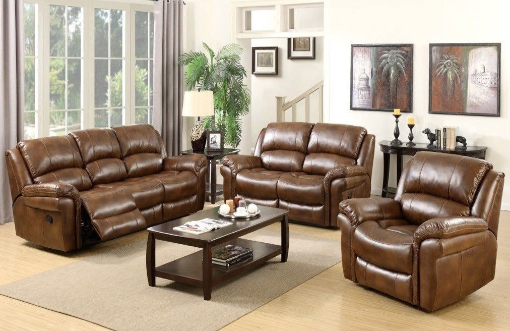 Fulstow 2 Seat Reclining Sofa - Faux Leather or Fabric