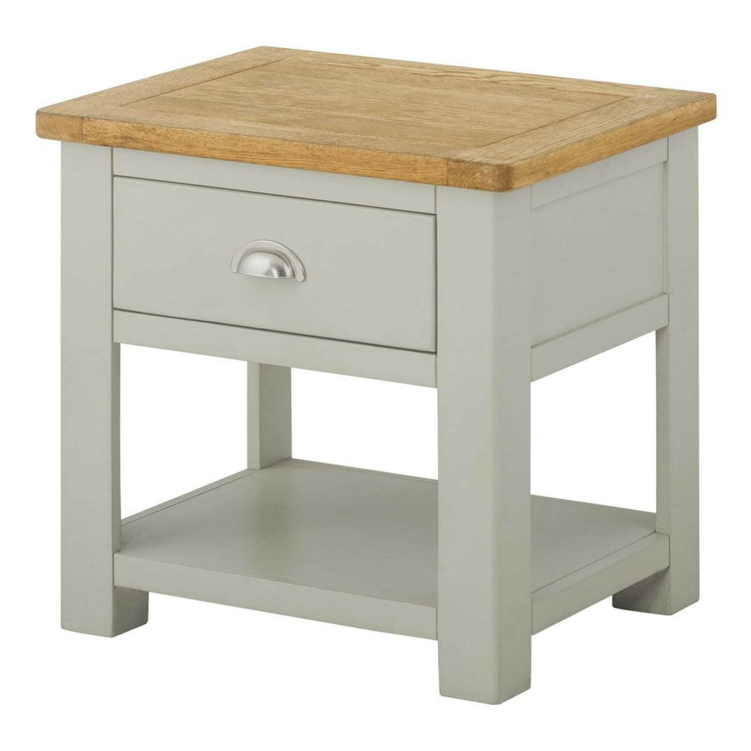 Binbrook Lamp Table with Drawer - Painted