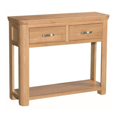 Tealby Large Console Table - Oak