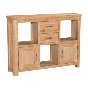 Tealby Low Open Display Unit - Oak