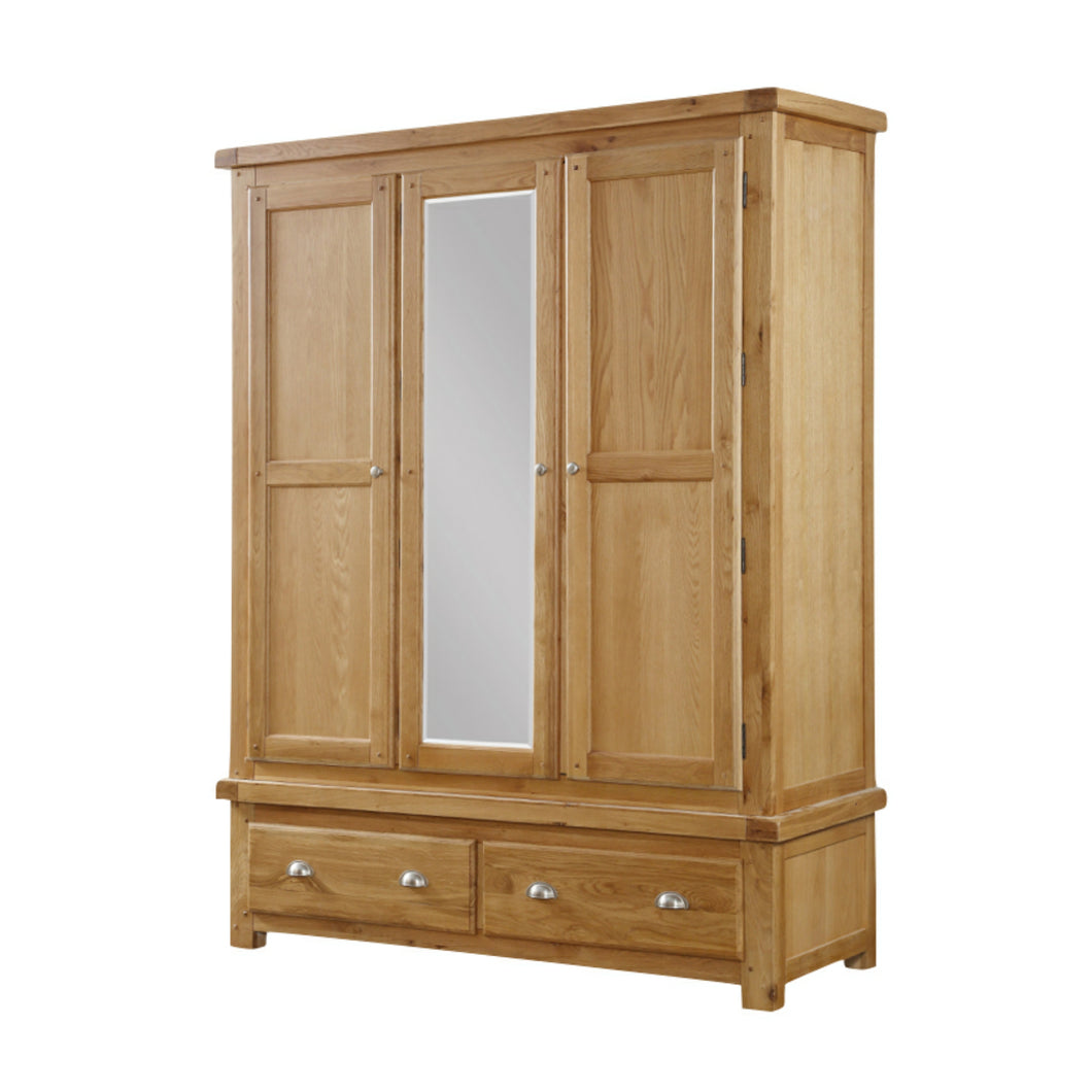 Newton 3 Door 2 Drawer Wardrobe