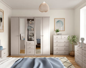 Ravello 4 Drawer Narrow Chest - available in 3 colours