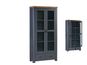 Tealby Painted Glass Display Cabinet - 2 Colours
