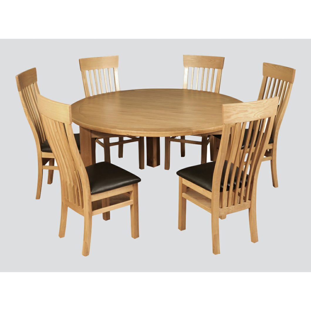 Tealby Round Dining Table (EXCLUDES CHAIRS) - Oak