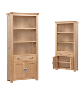 Tealby High Bookcase - Oak