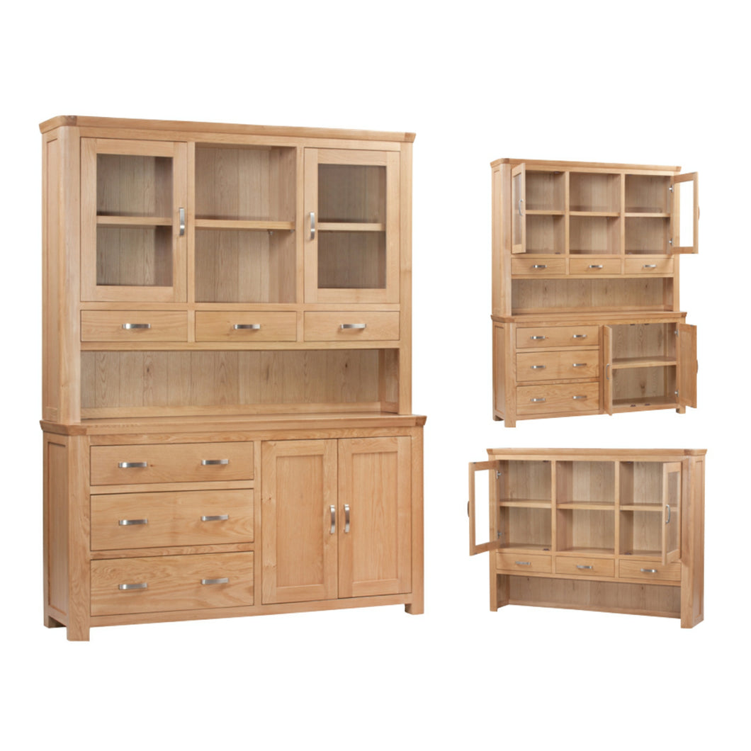 Tealby Three Drawer Wide Dresser - Oak