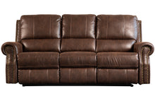 Load image into Gallery viewer, Timberland Reclining Three Seat Sofa - Chestnut