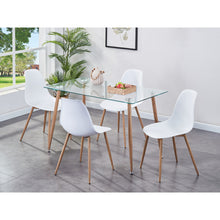 Load image into Gallery viewer, Glass Table & Chair Set (Includes 4x Chairs)