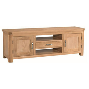 Tealby Large TV Unit - Oak