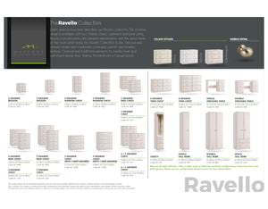 Ravello 3 Drawer Bedside Cabinet - available in 3 colours