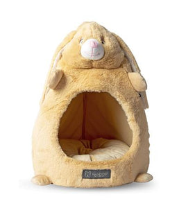 Nandog Tan Bunny Cat Hut