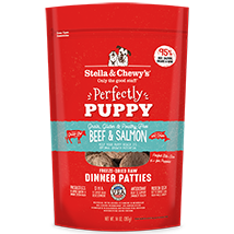 Stella and Chewy's Beef and Salmon Perfectly Puppy Freeze-Dried Dinner Patties