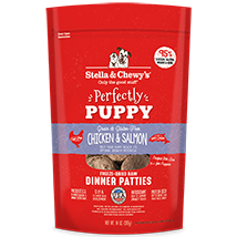 Stella and Chewy's Chicken and Salmon Perfectly Puppy Freeze-Dried Dinner Patties