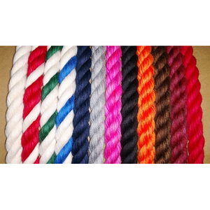 "Auburn Leathercrafters 1/2"" Width Cotton Rope Leash available w Snap-End or Slip-End"