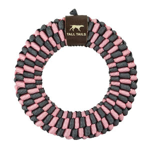 Tall Tails Pink Braided Ring Toy