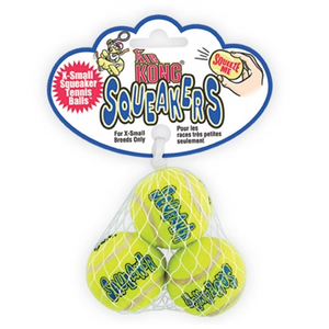 KONG Air Kong Squeaker Tennis Balls - Small