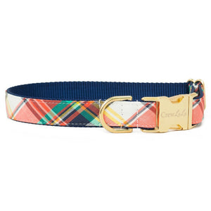 Crew LaLa Autumn Plaid Dog Collar