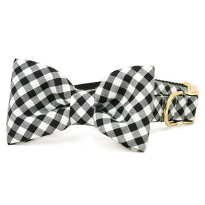Crew LaLa Black & White Buffalo Plaid Bow Tie