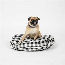 Load image into Gallery viewer, Waggo Buffalo Plaid Circle Dog Bed