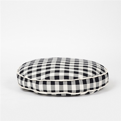 Waggo Buffalo Plaid Circle Dog Bed