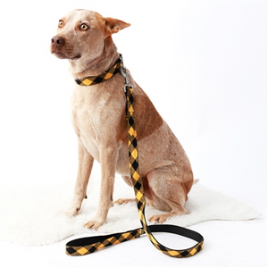 Mimi Green Buffalo Plaid Flannel Dog Leashes