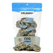 Load image into Gallery viewer, Icelandic+ Cod Skin Rolls Dog Treat 3-oz Bag